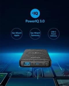 Pin sạc Anker PowerCore III Sense  Wireless 10.000 mAh (18W)